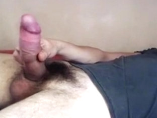 34 yo pervert thick french cock jerking off imagining a milf