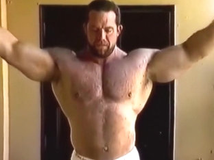 Beefy hairy Football Player