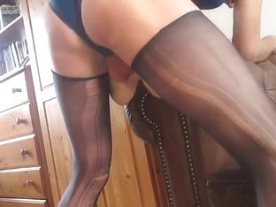 spread arse cheeks, pantyhose, swimsuit, fuck arse doll