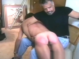 Black Master Spanks White Boy