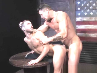 Skinny dude gets ass drilled by muscular hunk after blowjob