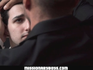 MormonBoyz - Horny Priest Watches As A Religious Boy Jerks His Cock In Confession