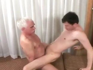 Grandpa fucks a cute twink deep hard and fast