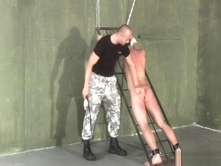 Humiliating punishment thrashing three