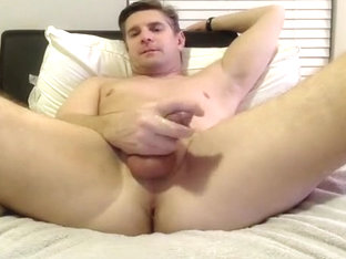 handsome dilf takes dildo on cam