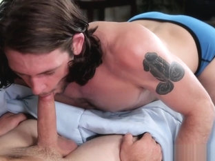Gay brother blows &amp_ fucks sleeping step brother