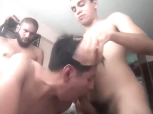 Latino trio on poppers