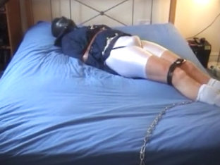 Prisoner 19 - 'White Lycra, Chains, Straps and Handcuffs'