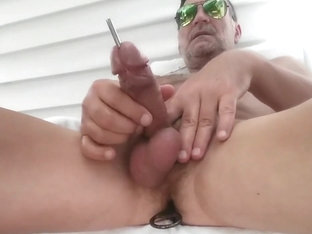 Sounding Cock Outdoors - Part 3 - Public Urethral Play