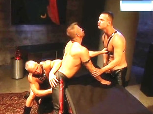 Leather Threeway Big Dick Buttfuck