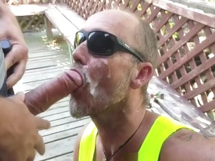 Hot guy eating cum