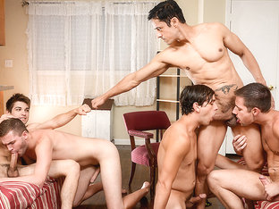 Dylan Knight, Jack Radley, Johnny Rapid, Rafael Alencar, Zac Stevens in My Neighbor's Son Part 4 -.