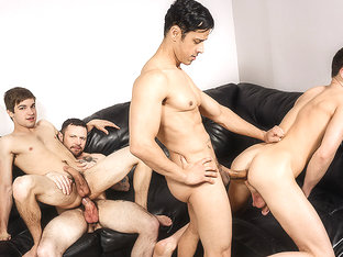 Johnny Rapid, Rafael Alencar, Sergeant Miles, Travis Stevens in I'm Leaving You Part 5 - JizzOrgy