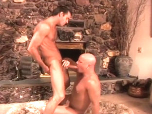 Two Hung Studs Get Buck Wild By The Fire