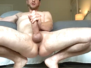(303) smooth guy jerks off big cock and cums