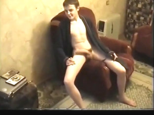 Twink shows us his big cock