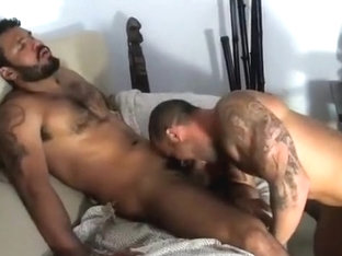 Tattooed muscular bears fuck hard