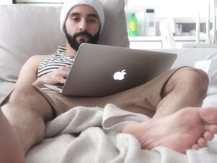 Hairy muscle Arab jock foot worship