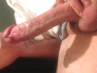 Filling fleshlight with big white cock