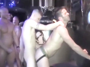 Stripper dance into breed gangbang